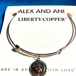 Alex and Ani Liberty Copper